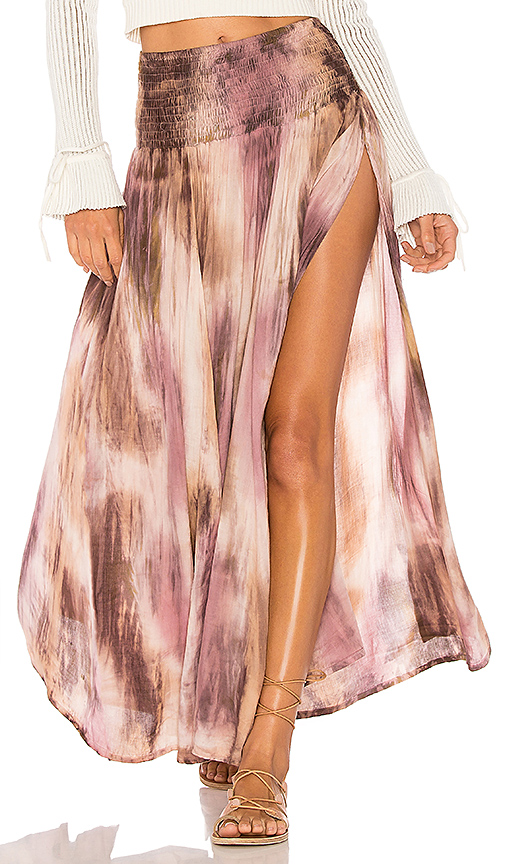 Tiare Hawaii Rock Your Gypsy Soul Maxi Skirt in Taupe.
