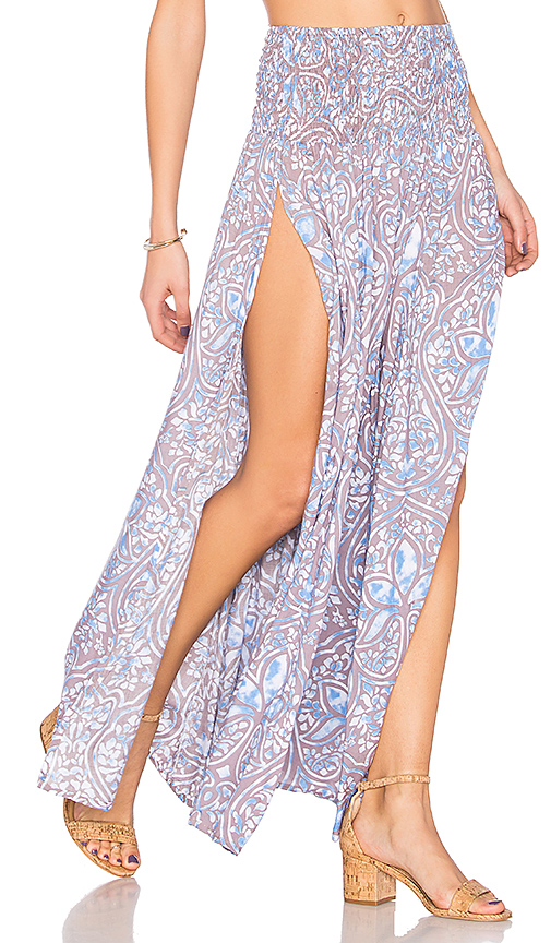 Tiare Hawaii Rock Your Gypsy Soul Skirt in Blue.