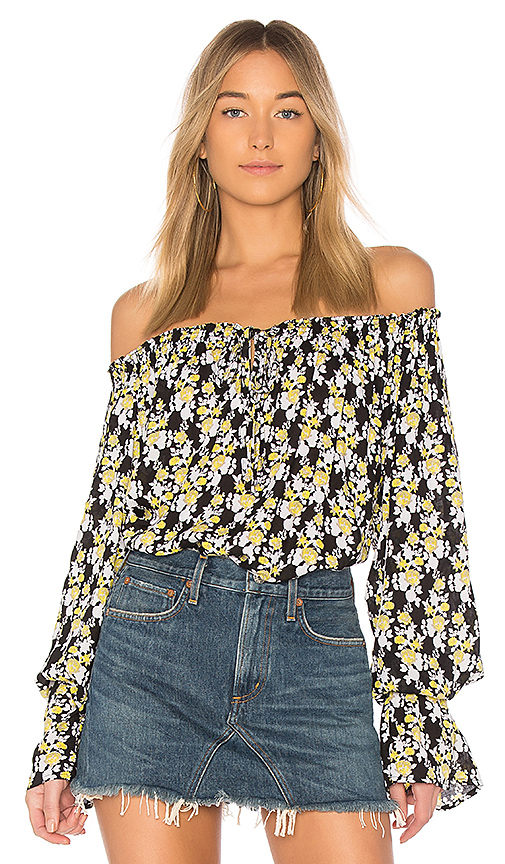 Tiare Hawaii Eli Top in Black.