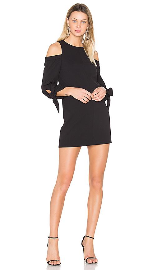 Tibi Shoulder Tie Sleeve Dress in Black