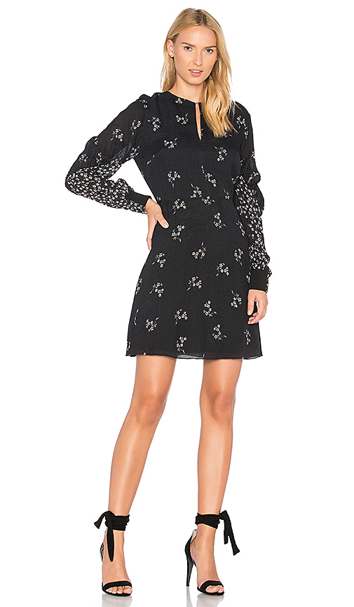 Tibi Florence Flirty Dress in Black