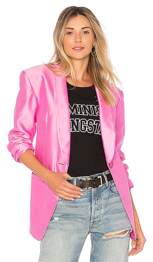 Tibi Tuxedo Blazer in Pink. - size L (also in M,S,XS)
