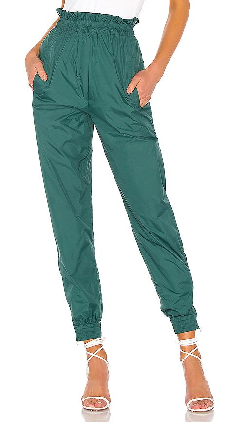 TIBI | Tibi Nylon Paper Bag Jogger In Green. - Size XS (Also In M,S) | Goxip