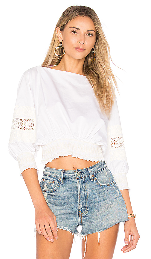 Tibi Cropped Top in White