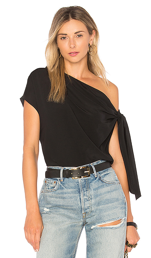 Tibi Tie Top in Black