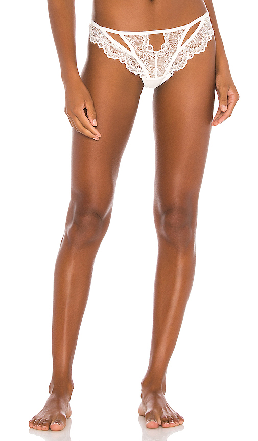 Thistle & Spire THISTLE & SPIRE KANE CUTOUT THONG IN WHITE.