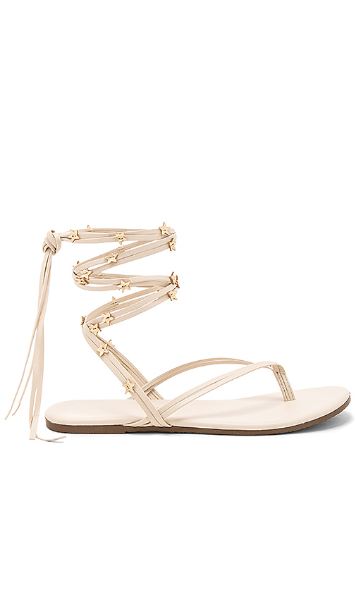 TKEES Lily Wrap Sandal in Cream. - size 10 (also in 6,7,8,9)