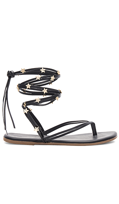 TKEES Lily Wrap Sandal in Black