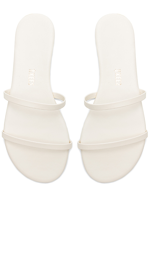 TKEES Gemma Sandal in White