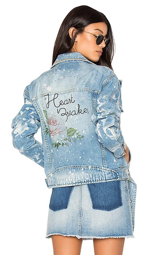 The Laundry Room Heart Breaker Moto Club Jacket in Blue