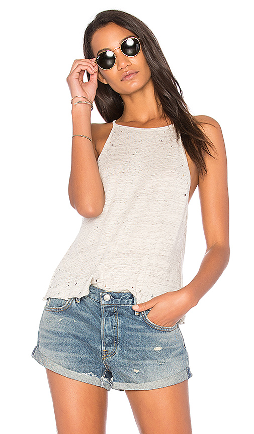 The Laundry Room High Neck Tank in White