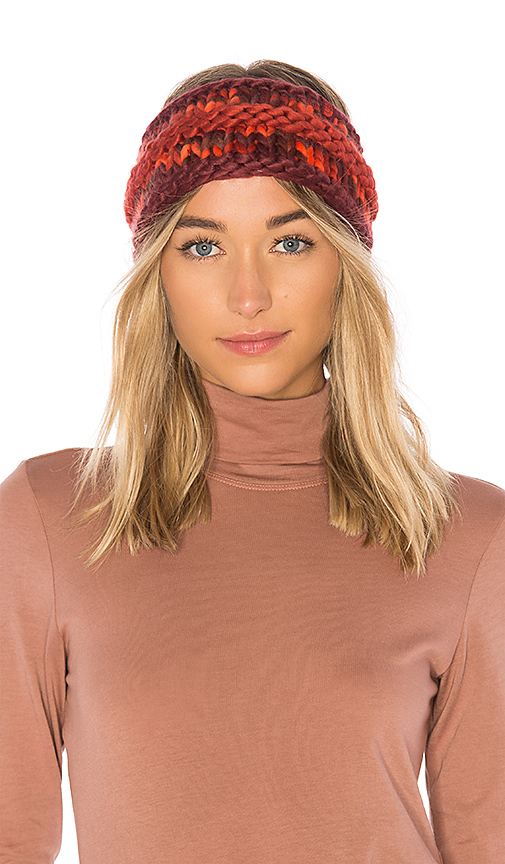 The North Face Nanny Knit Ear Band in Red