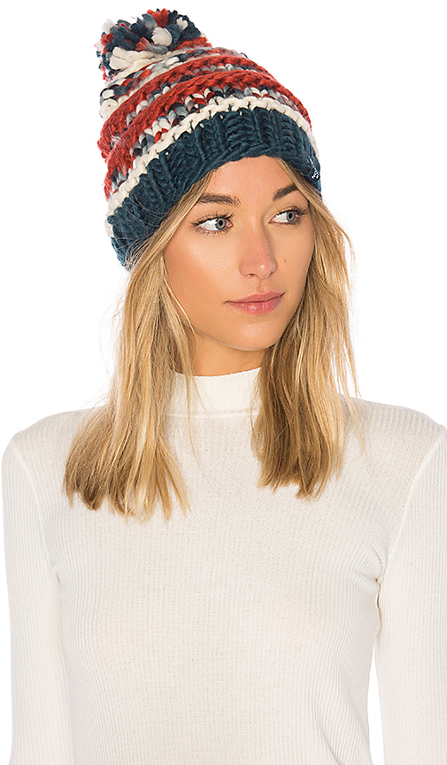 The North Face Nanny Knit Beanie in Ivory