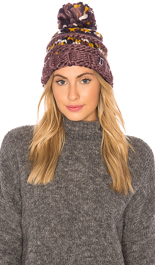 The North Face Nanny Knit Beanie in Purple