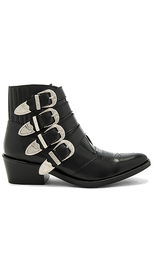 TOGA PULLA Buckled Leather Bootie in Black