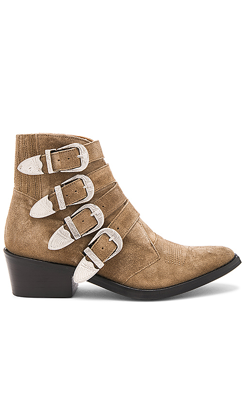TOGA PULLA Western Buckle Bootie in Taupe