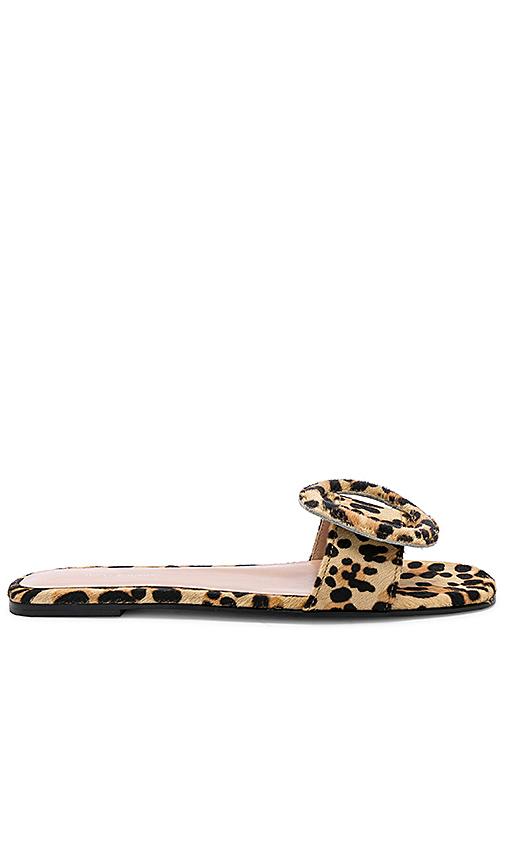 Tony Bianco Persia Leopard Calf Hair Sandal in Beige