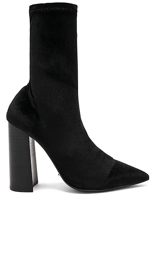 Tony Bianco Diddy Velvet Bootie in Black