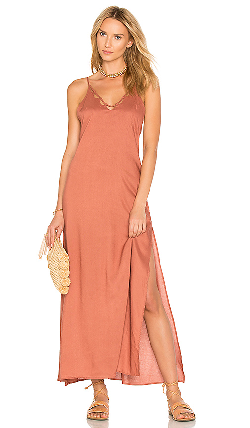Tori Praver Swimwear Kora Maxi Dress in Pink