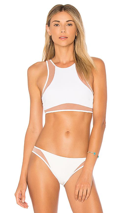 Tori Praver Swimwear Dany Bikini Top in Ivory. - size S (also in L,M,XS)
