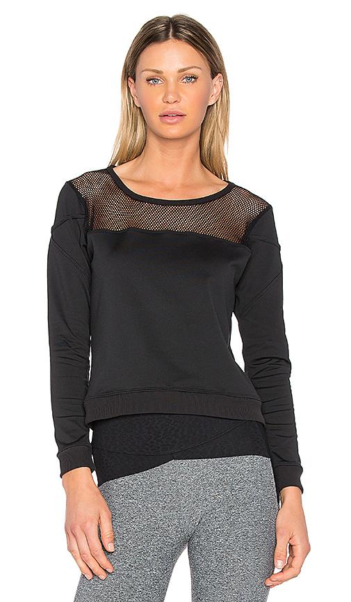 Track & Bliss Mesh Panel Sweatshirt in Black