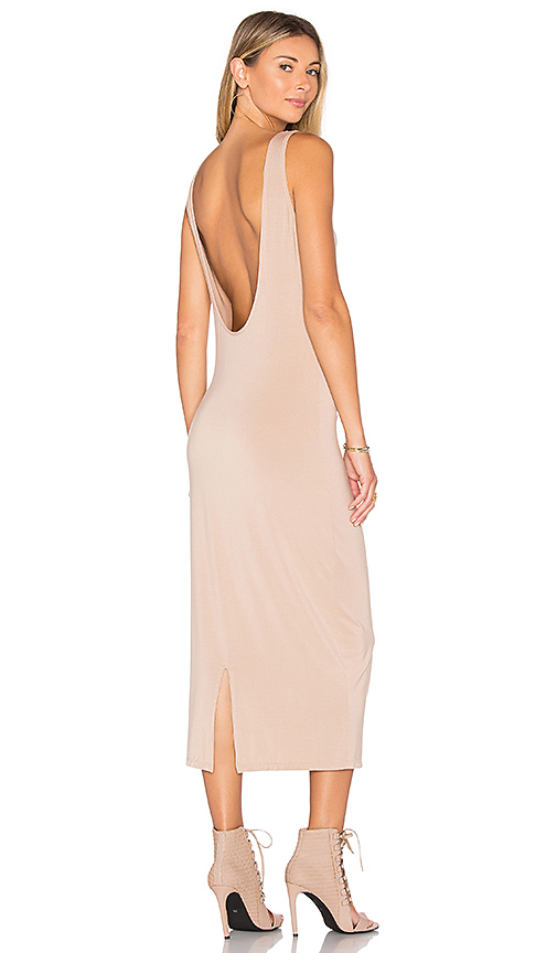 TROIS Klum Midi Dress in Beige