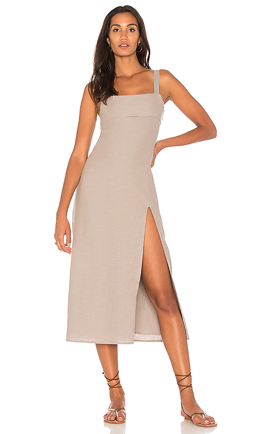 TROIS Crawford Midi Dress in Gray