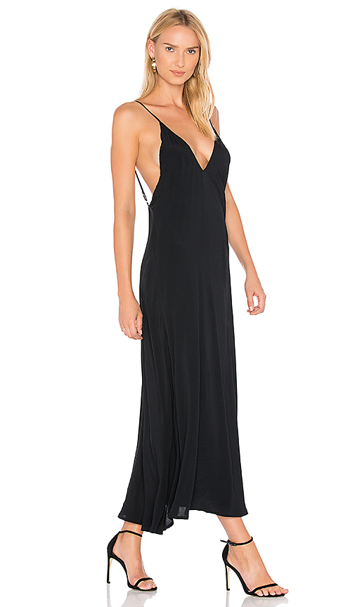TROIS Kerr Slip Dress in Black