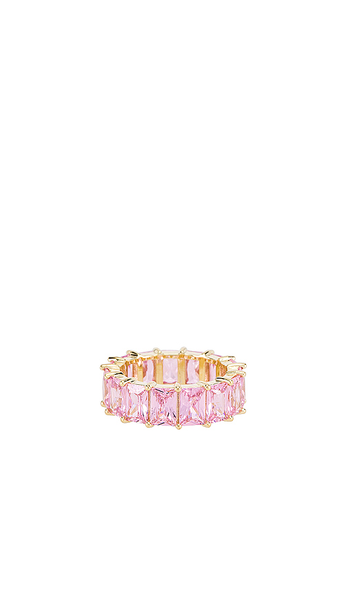 THE M JEWELERS | The M Jewelers NY Light Pink Colored Band In Metallic Gold. - Size 8 (Also In 5,6,7) | Goxip