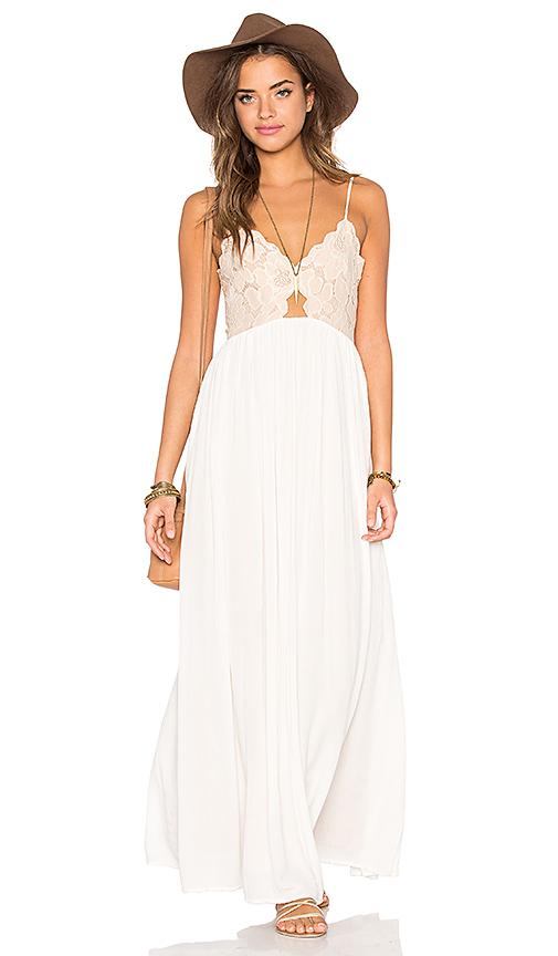 Tularosa Bryce Maxi Dress in Blush