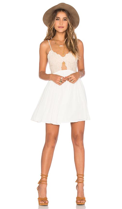 Tularosa x REVOLVE Bryce Mini Dress in White