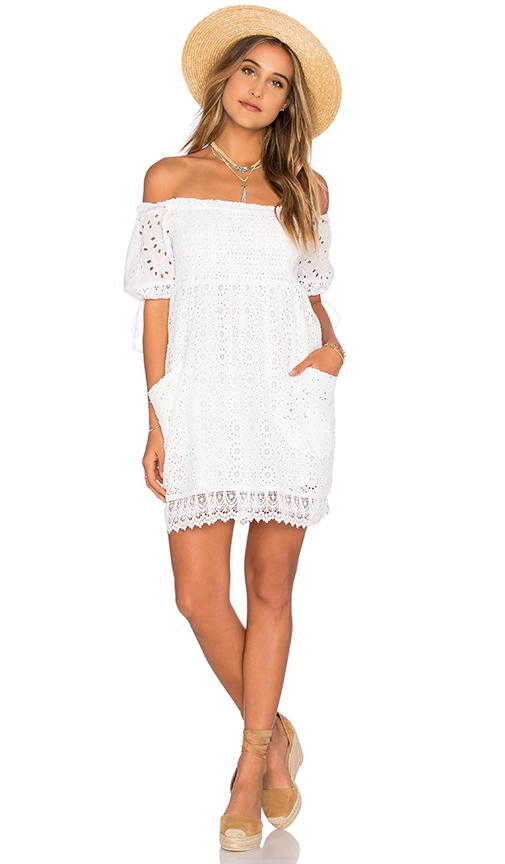 Tularosa Quinn Smocked Dress in White