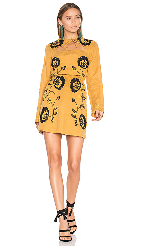Tularosa Keelan Dress in Mustard. - size L (also in M,S,XS)