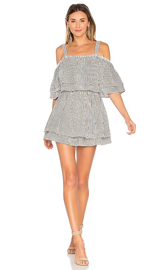 Tularosa x REVOLVE Bay Dress in Black & White