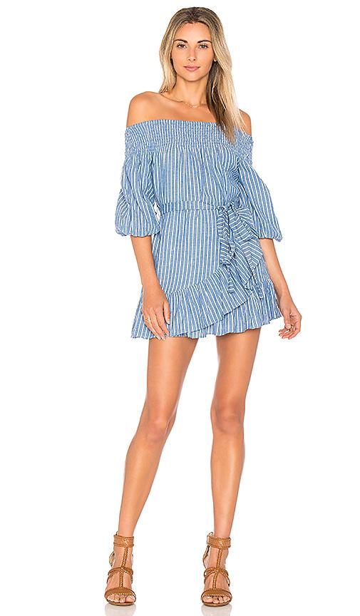 Tularosa x REVOLVE Maida Ruffle Dress in Blue
