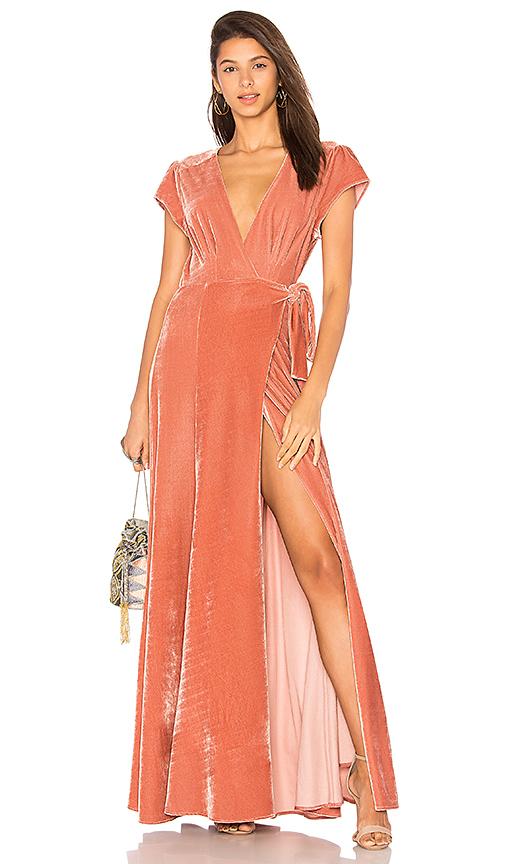 Tularosa Sid Wrap Dress in Rose