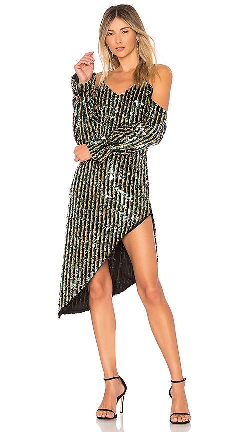 Tularosa Mariadora Dress in Metallic Gold