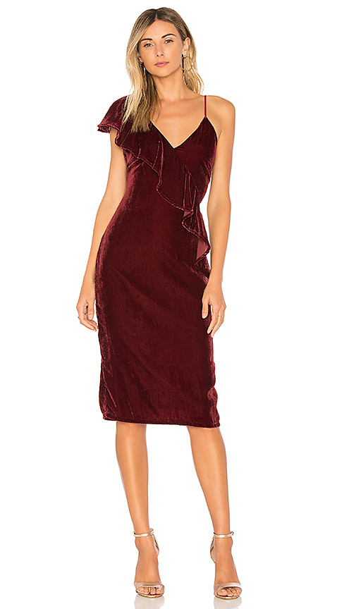 Tularosa x REVOLVE Cleo Dress in Burgundy