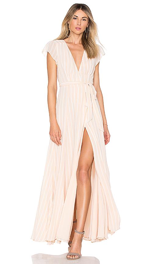 Tularosa Sid Wrap Dress in Cream