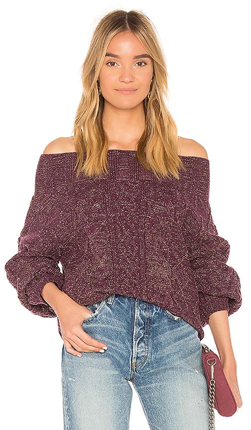 Tularosa Vanna Sweater in Purple. - size S (also in L,M,XS)