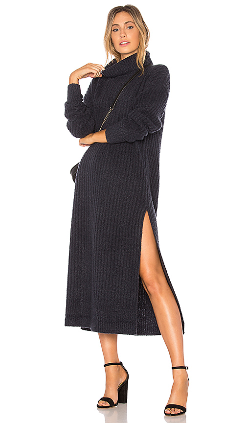 Tularosa Like a Boss Sweater Dress in Blue
