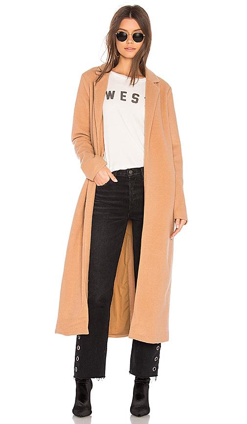 Tularosa Lauren Coat in Tan. - size L (also in M,S,XL, XS, XXS)