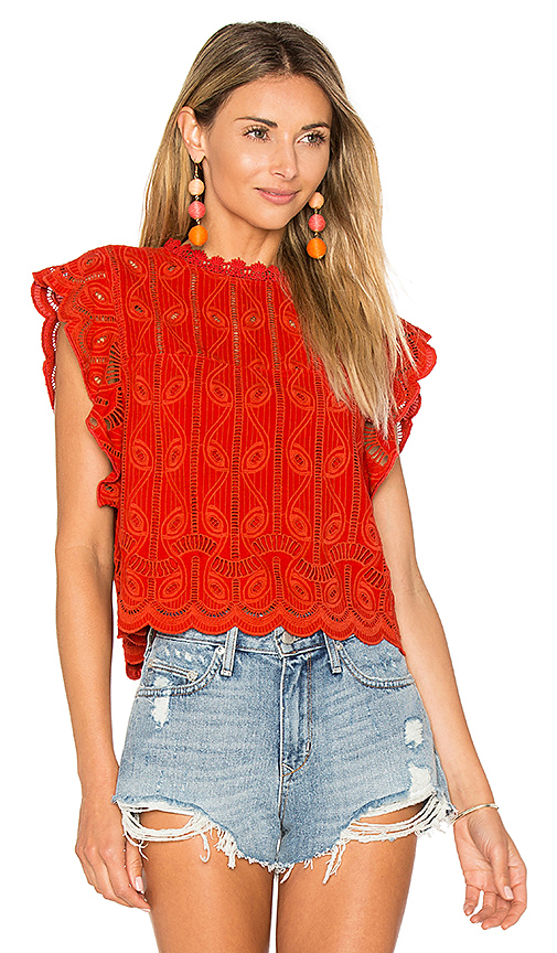 Tularosa Clayton Top in Red. - size M (also in S)