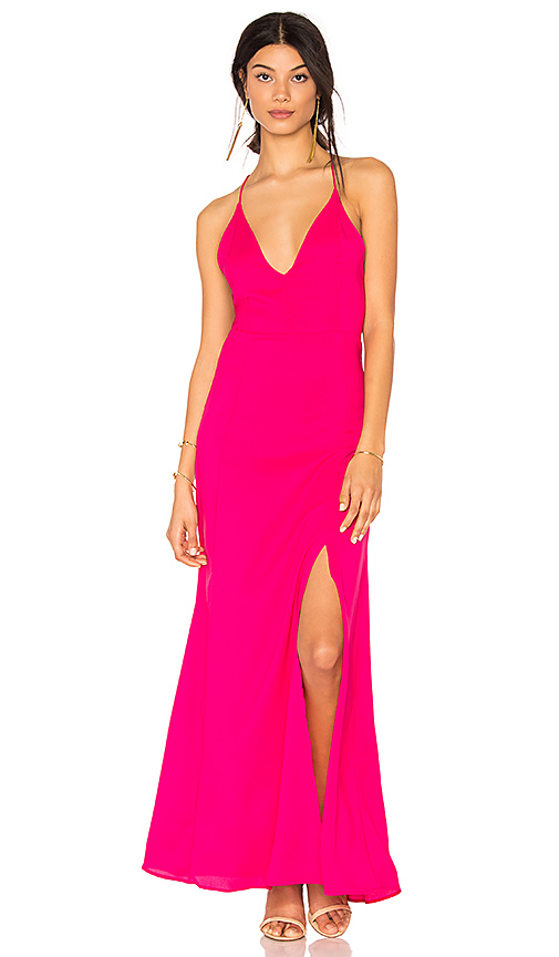 Two Arrows Loren Dress in Fuchsia