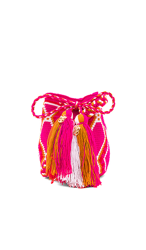 the way u Mini Mochila Bucket Bag in Fuchsia