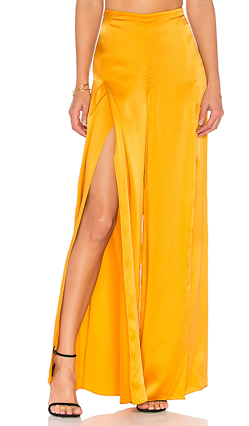 AMUR Ines Pant in Yellow. - size 0 (also in 2,4,6)