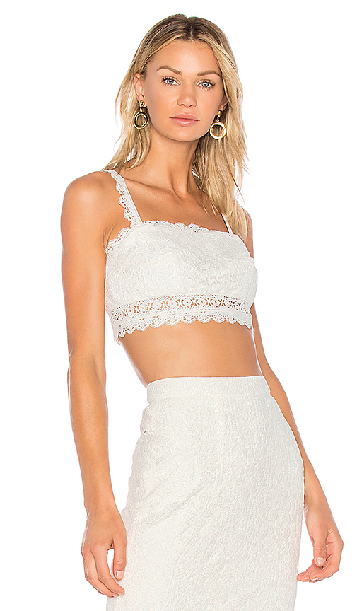 AMUR Daisy Crop Top in White. - size 2 (also in 4)