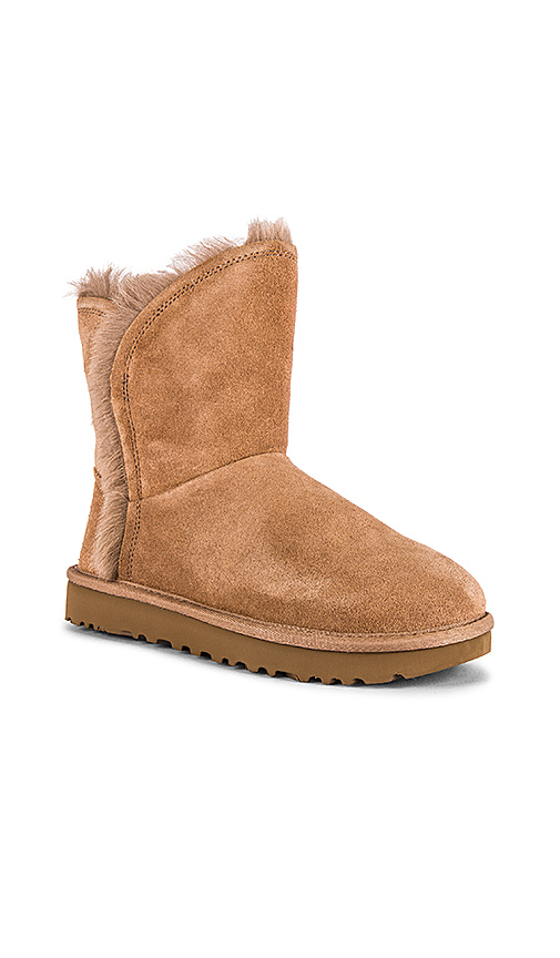 UGG Classic Short Fluff High Low Boot in Beige