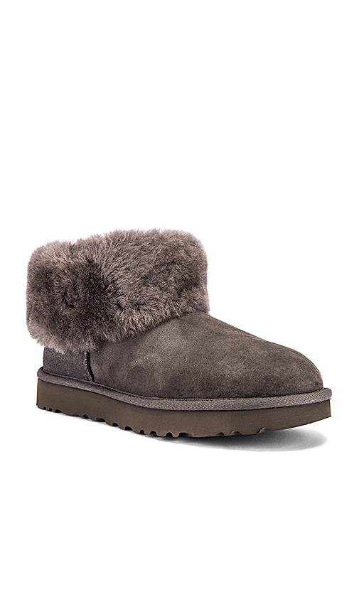 UGG Classic Mini Fluff Boot in Gray