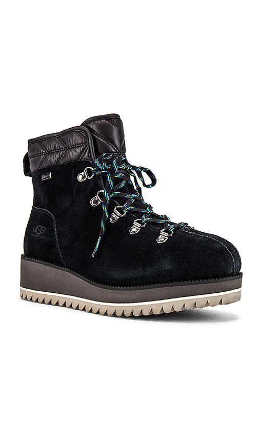 UGG Birch Lace Up Boots in Black
